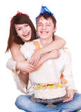 Couple teenager girl and boy. Royalty Free Stock Images