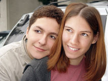 Couple teenagers royalty free stock image