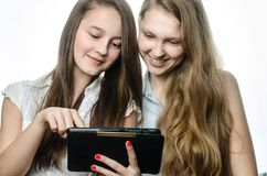 A couple of teenagers. Two female friends having fun Royalty Free Stock Photos