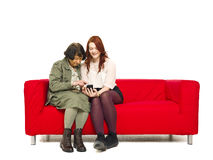 Couple with telephone Royalty Free Stock Images