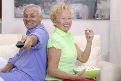 Couple television. Royalty Free Stock Images