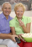 Couple television. Royalty Free Stock Photos