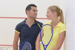 Couple after tenis game. Couple after a tenis game Stock Image