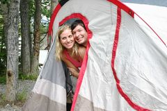 Couple in tent Stock Image