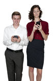 Couple Texting Royalty Free Stock Photography