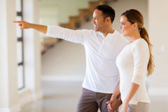 Couple in their apartment Stock Photography