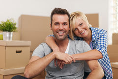 Couple in their new home Royalty Free Stock Image
