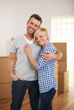 Couple in their new home Royalty Free Stock Images