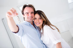 Couple in their new house Royalty Free Stock Photos