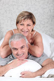 Couple in their room Royalty Free Stock Photography