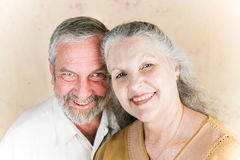 Couple in Their Sixties. Portrait of beautiful senior couple in their sixties, still deeply in love Royalty Free Stock Photos