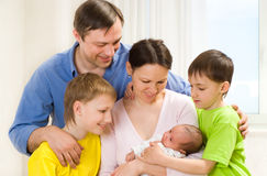 Couple and their  sons Royalty Free Stock Photo