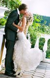 Couple on their wedding day. Loving couple on their wedding day Royalty Free Stock Photography
