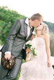 Couple on their wedding day Royalty Free Stock Images