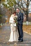 Couple on their wedding day Royalty Free Stock Photos