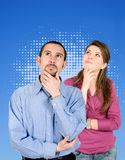 Couple thinking Stock Photography