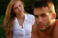 Couple thinking Royalty Free Stock Image