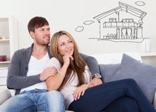Couple Thinking Of Getting Their Own House Royalty Free Stock Images