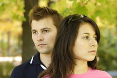 Couple in thoughts Royalty Free Stock Photography