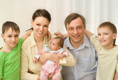 Couple  with three children Stock Image