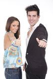 Couple with thumb up Royalty Free Stock Image