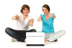 Couple with thumbs up Stock Photography
