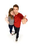 Couple with thumbs up Royalty Free Stock Photos