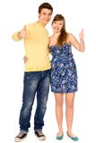Couple with thumbs up Royalty Free Stock Photography