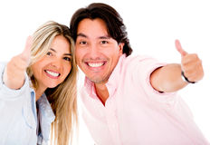 Couple with thumbs up Stock Photo