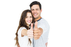 Couple with thumbs up Stock Image