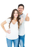 Couple with thumbs up Royalty Free Stock Photo
