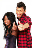 Couple thumbsup Stock Images