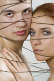 Couple tied together Royalty Free Stock Image