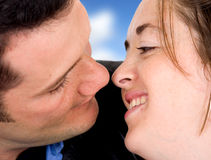 Couple about to kiss Royalty Free Stock Photos