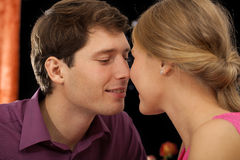 Couple about to kiss Stock Photos