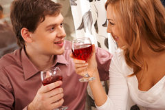 Couple toasting Stock Photography