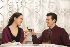 Couple toasting royalty free stock photo