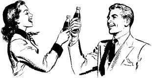 Couple Toasting Royalty Free Stock Images