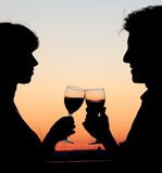 Couple toasting Royalty Free Stock Image