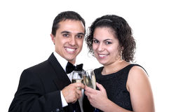 Couple toasting with champagne Stock Images
