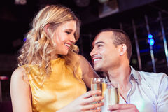 Couple toasting with champagne Royalty Free Stock Photos