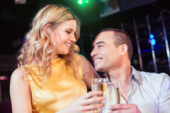 Couple toasting with champagne Royalty Free Stock Photo