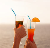 Couple toasting cocktail Stock Image