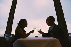 Couple toasting glasses. Royalty Free Stock Photos