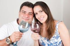 Couple Toasting Stock Image