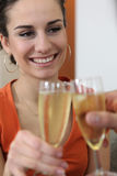 Couple toasting new house Royalty Free Stock Photography