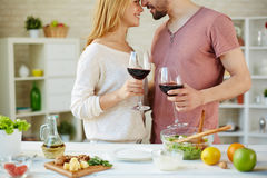 Couple toasting Royalty Free Stock Image