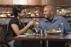 Couple Toasting With Wine royalty free stock image
