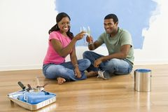 Couple toasting with wine. Royalty Free Stock Image