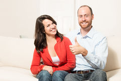 Couple together having fun Royalty Free Stock Photo